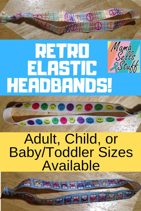 These are my absolute favorite headbands! Hold your hair with style and without creasing with these awesome headbands. They keep your hair in place at the gym but are stylish and comfortable enough to wear all day and into the night! They do not get stuck in your hair and don't cause any damage. Available in adult, child, and baby/toddler sizes #elastic #headband #elasticband #adultheadband #childheadband #babyheadband #toddlerheadband #gymheadband #peace #vwbus #mothersdaygift #birthdaygift