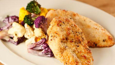 Kirstie Alley's Parmesan Chicken and Veggies #whatsfordinner