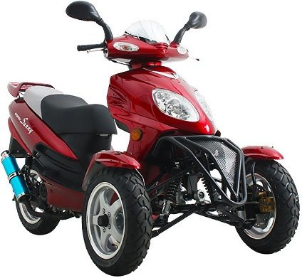50cc Super Trike Scooter Moped Trike Scooter Moped Motorcycles
