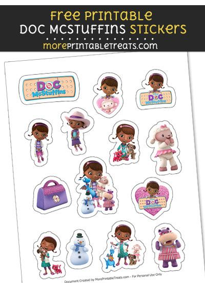photograph relating to Printable Doc Mcstuffins named Cost-free Document McStuffins Printable Stickers towards Print at Dwelling