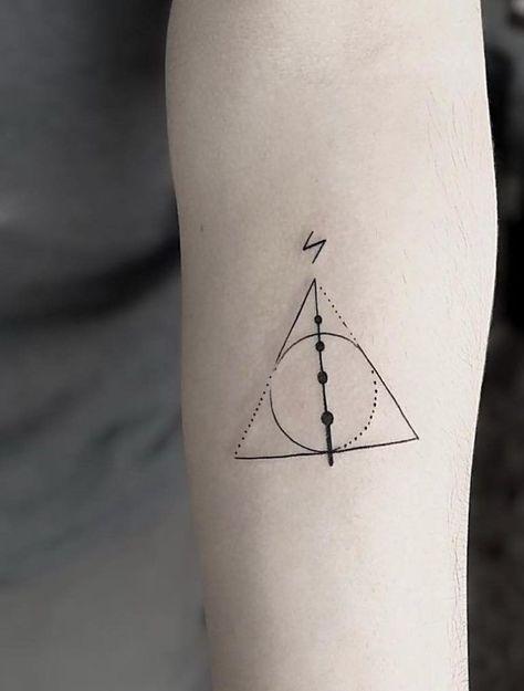 Tatuagem Harry Potter: 80 opções de tattoo para eternizar seu amor pela saga #beautytatoos