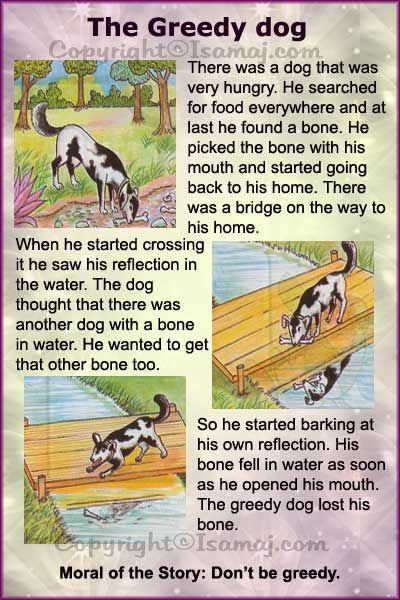 Moral Stories: The Greedy Dog … | Colors | Short…