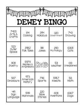 photograph about Dewey Decimal System Printable Bookmarks identified as Dewey Decimal Approach Bingo Sport