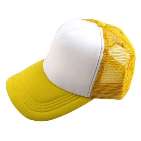 cd7ed3ed25c Unisex Plain baseball cap Casual Hat Solid Baseball Cap Trucker Mesh Blank  Visor Hat Adjustable One piece hat  147