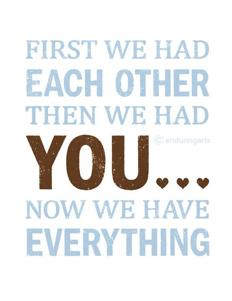 Nursery Word Art First we had each other then we by enduringarts, $15.00