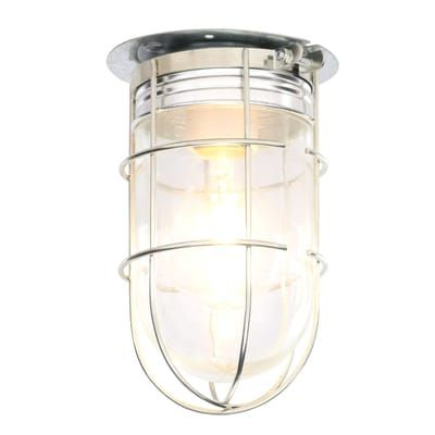 Canarm All Weather 1 Light Pewter Outdoor Ceiling Mount With Clear Glass Bl04cwg Hd The Home Depot Ceiling Light Design Outdoor Light Fixtures Clear Glass