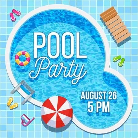Stock Vector In 2020 Pool Party Invitations Swim Party