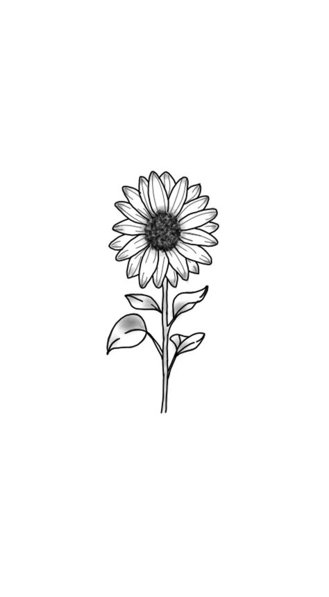 sunflower drawing with quote