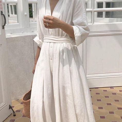 Korean Style Casual Ankle-Length Autumn Belt Dress
