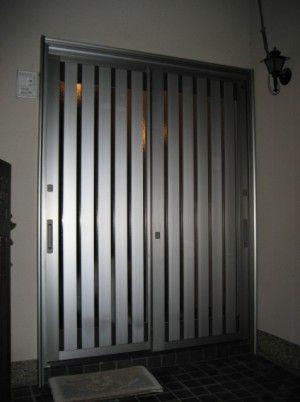 リシェント玄関引戸 pg仕様 シャイングレー色 障子 15型 網戸付