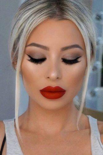Makeup Beauty Women Red Lip Makeup Red Lipstick Looks Red