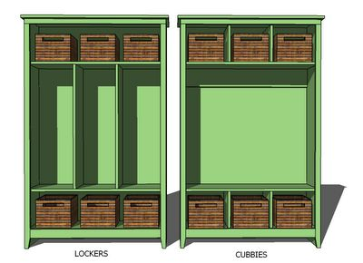 I Want To Make This Diy Furniture Plan From Ana White Com A Single Locker Can Be Used Alone Or Grouped With Seve Diy Furniture Plans Diy Locker Wood Lockers