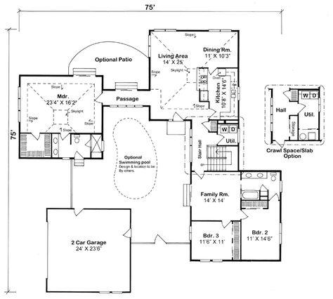 plan de maison en y