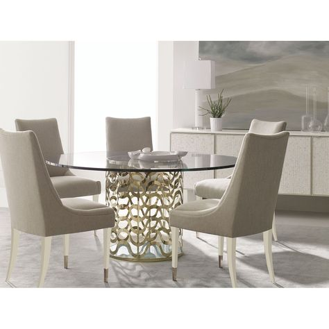 Caracole Classic Sit Up Straight Dining Chair Glass Dining Room