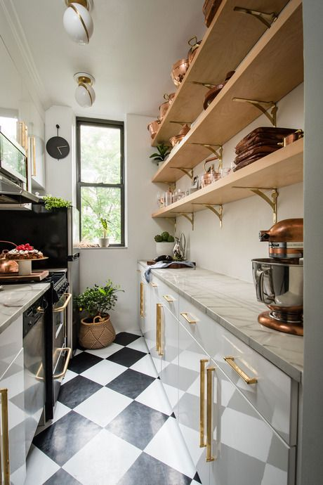 Pin By Signature Hardware On Living Spaces New York Studio Apartment Kitchen Interior Interior Design Kitchen