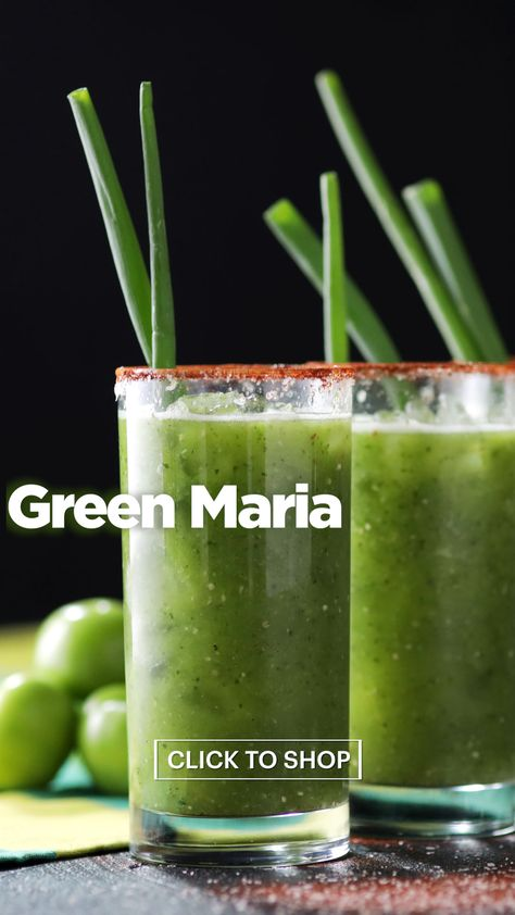 The best brunch cocktail is here: Tomatillos, jalapeños and premium 100% blue agave 1800 Tequila make for the perfect spicy, bright Green Maria.
