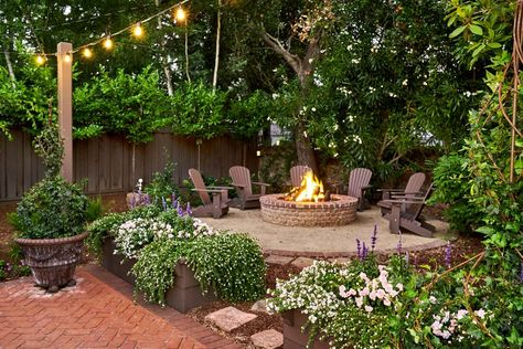 - Outdoor Oasis: Fairy-Tale Backyard Designed for Entertaining, backyard landscaping designs - Backyard Patio Designs, Small Backyard Landscaping, Fire Pit Backyard, Patio Ideas, Oasis Backyard, Garden Ideas, Modern Backyard, Small Backyard Design, Backyard Ideas For Small Yards