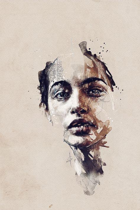 X . Portraits by Florian NICOLLE #art #illustration