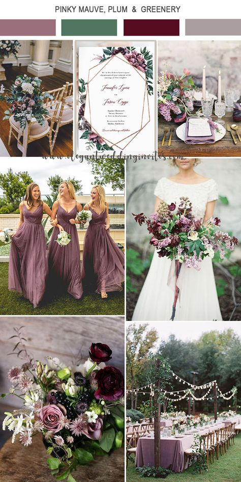 5 Amazing Wedding Color Palettes Inspired EWI Floral Invitations 5 Amazing Wedding Color Palettes Inspired EWI Floral Invitations,Purple Wedding Colors pinky mauve and greenery wedding colors Mauve Wedding, Fall Wedding Colors, Burgundy Wedding, Spring Wedding Themes, February Wedding Colors, Spring Wedding Decorations, Plum Wedding Decor, Colour Themes For Weddings, Wedding Ideas Purple