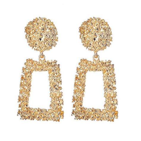 FNIO Fashion Vintage Earrings For Women Big Geometric Statement Gold Metal Drop Earrings 2020 Trendy Earings Jewelry Accessories - LNIE701-1