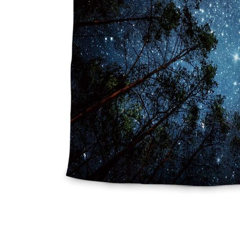 Landscape View of the Mountains and Night Sky Fabric Tapestry 51x60 Wall26