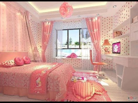 Os Quartos De Meninas Mais Lindos Do Mundo 12 Youtube Pink Room Decor Hello Kitty Bedroom Decor Hello Kitty Rooms