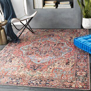 Mercer41 Concetta Shag White Area Rug In 2021 Area Rugs Vintage Medallion Blue Area Rugs