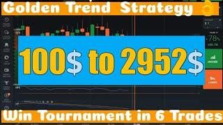 Iq Option Strategy - Golden Trend Strategy 2019 || Binary