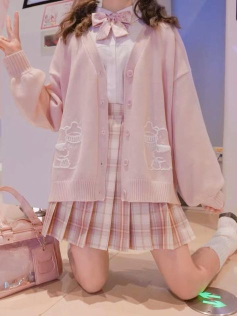Cute Fashion, Girl Fashion, Fashion Outfits, Cute Korean Fashion, Pastel Fashion, Pink Outfits, Cute Casual Outfits, Pastel Outfit, Aesthetic Fashion