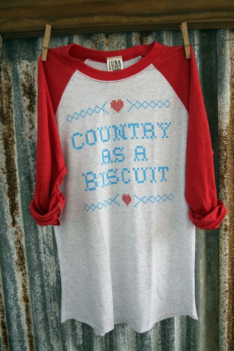 COUNTRY BISCUIT RAGLAN RED - Junk GYpSy co.