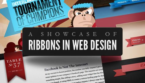 Ribbons in Web Design - when and where - very cool design ideas.