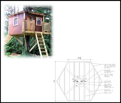 10 Hexagon Treehouse Plan Standard Treehouse Plans Attachment Hardware Tree House Plans Shed Building Plans Tree House