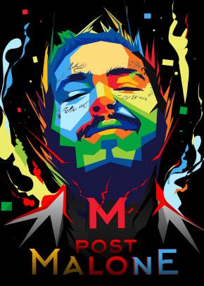 post malone wpap poster by hafis hafis