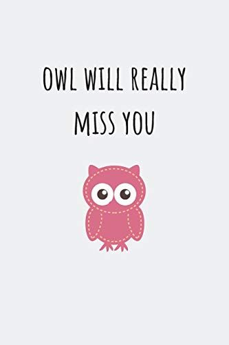 Owl Will Really Miss You Farewell Gift For Colleague Gag Https Www Amazon Com Dp 10 Farewell Gifts Farewell Gifts For Friends Farewell Gift For Colleague