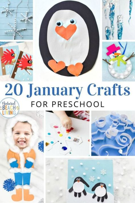 Crafts Preschool Winter Preschool Themes and Lesson Plans - Natural Beach Living January Preschool Crafts - Easy and Fun to Make - Natural Beach Living Winter Crafts For Toddlers, Toddler Arts And Crafts, Arts And Crafts For Teens, Art And Craft Videos, Easy Arts And Crafts, Preschool Lesson Plans, Preschool Art, Winter Preschool Themes, Easy Preschool Crafts