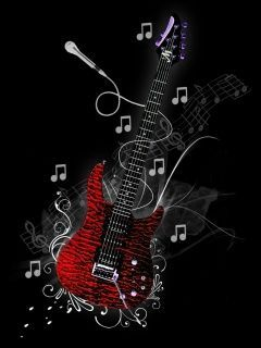 Guitar 240x320 Mobile Wallpapers Mobile Wallpapers Free Android Iphone Samsung Hd Music Artwork Music Wallpaper Music Illustration