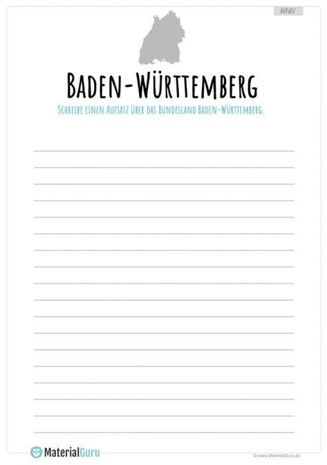 Bundesland Baden Wurttemberg Materialguru Bundesland Wurttemberg Unterrichtsmaterial