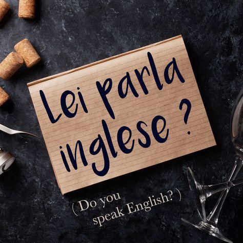 Italian Phrase of the Week: Lei parla inglese? Tu parli inglese? (Do you speak English)