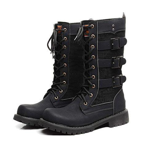 Ellie Shoes Mens 158-punk Combat Boot