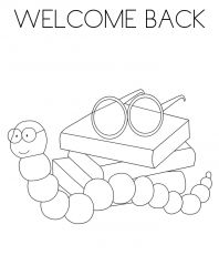 Welcome Back to School coloring page | Free Printable Coloring Pages | 230x198