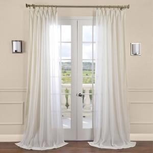 Exclusive Fabrics Furnishings Gardenia Faux Beige Linen Sheer