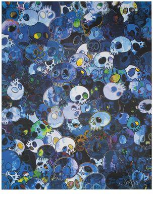 """GERO TAN BLUE CANVAS PRINT 44x24/"""" JAPANESE POP ART TAKASHI MURAKAMI"""