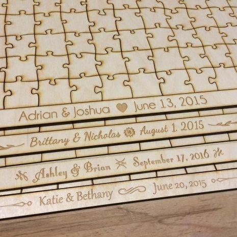 Wooden Puzzle Pieces Wedding Guest Book | Wedding Ideas | Pinterest ...