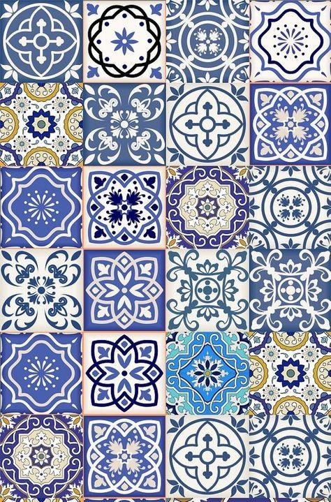 Set of 24 Tiles Decals Tiles Stickers mixed Tiles for walls Kitchen Bathroom fliesenaufkleber AB11