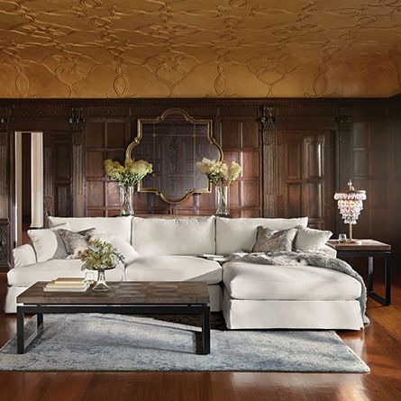 Arhaus Emory Slipcovered Sectional in Deso White | Where the heart is | Pinterest | Living rooms Room and Living room ideas : arhaus sectional - Sectionals, Sofas & Couches