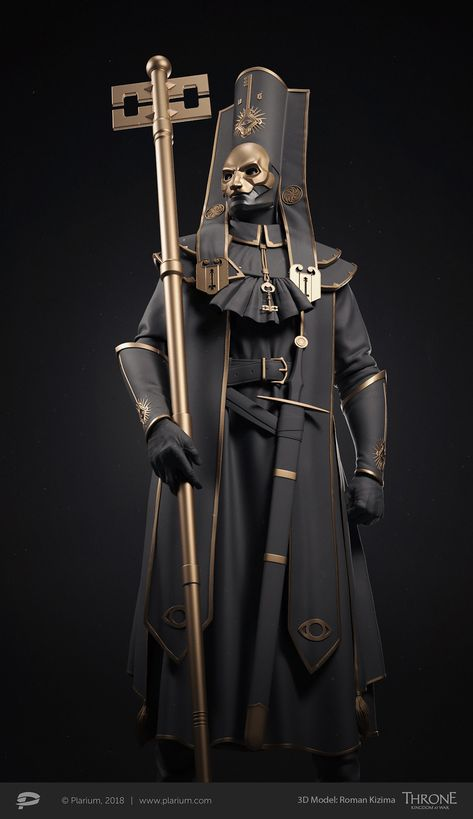 """The holy keys church"" high priest Fantasy Character Design, Character Design Inspiration, Character Concept, Character Art, 3d Model Character, Fantasy Armor, Dark Fantasy Art, Fantasy Art Warrior, Dnd Characters"