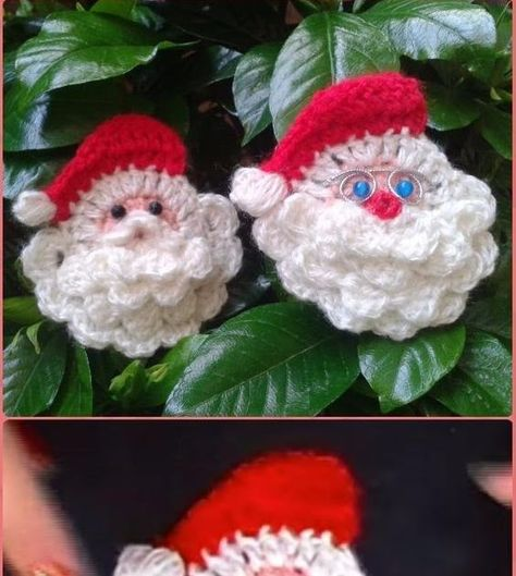 Crochet Santa Clause Face Motif Free pattern