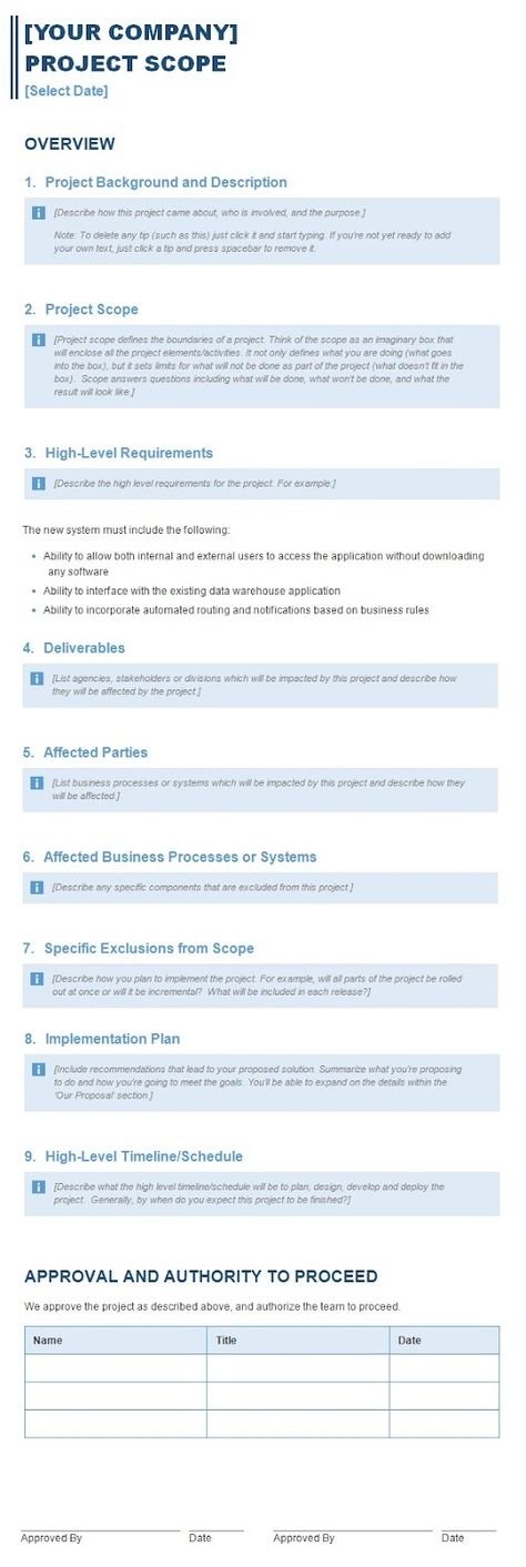 Download Company Profile Template For Business from - new 9 scope statement samples