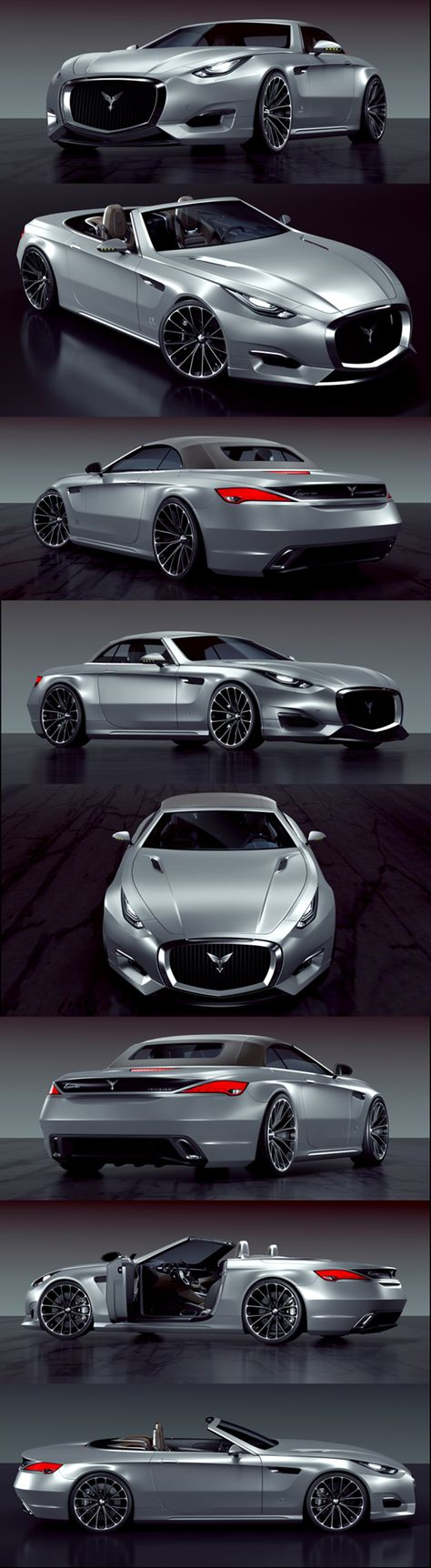 Luxury caravan with full size sports car garage from futuria - Car Concept Images On Pinterest Cars Car And Car Photos