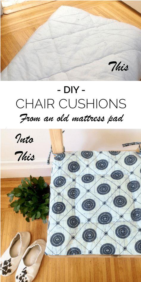 Diy Seat Cushions From An Old Mattress Pad Old Mattress